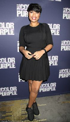 Busy woman:It seems Jennifer Hudson went straight from Kanye West's Yeezy Season 3 NYFW premiere to a listening party for her current Broadway show, The Color Purple