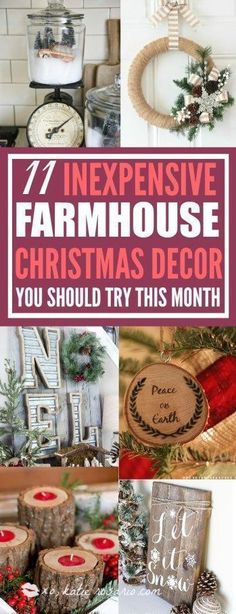 11 Rustic DIY Christmas Decorations You Can Actually Make: I love Christmas and I love these cute DIY décor ideas even more! They really bring the holidays into my home. I think this is perfect for anyone that likes to be crafty. These rustic DIY Christmas decorations really make me feel warm and cozy! Saving for later! #diychristmasdecorations #christmasdecorationsrustic #christmasdecorating