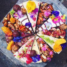 Rainbow flower cake Vegan I Gluten free I Low carb I Vegetarian