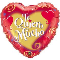 """36"""" Te Quiero Mucho Swirling Hearts (1 per package) by Qualatex. $12.44. Not Packaged"""