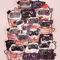 Doodle pugs