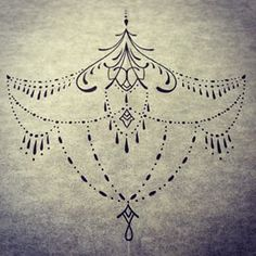 Sternum tattoo design deep night tattoo pinterest for Solar plexus tattoo
