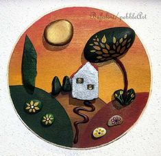 ImageFind images and videos on We Heart It - the app to get lost in what you love. Biscuit, Pebble Art, Stone Painting, Painted Rocks, Decorative Plates, Drawings, Lost, App, Heart