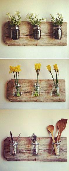6 Surprising Useful Tips: Pottery Vases Porcelain old vases decor.Vases Design Blanc silver vases tea pots.Wooden Vases Decor.. Mason Jars, Canning Jars, Diy Home Decor, Room Decor, Recycled Home Decor, Quirky Home Decor, Diy Casa, Creation Deco, Home And Deco