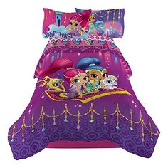 Nickelodeon Shimmer & Shine Magical Wonders Twin Comforter - Home - Bed & Bath - Bedding - Comforters Teen Bedding Sets, Wonder Twins, Twin Toddlers, Little Girl Names, Twin Comforter, Shimmer N Shine, Spongebob Squarepants, Christmas Toys, Cool Toys