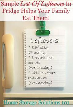 Eating your leftovers instead of letting them spoil and go to waste is a very simple way to save money and avoid food waste. Here's an extremely simple strategy, plus other tips, to get your family in the habit of actually eating leftovers.