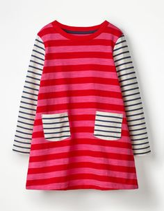 0eb4548c81e Stripy Jersey Dress - Rainbow Stripe