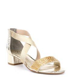 e7fbb6983b2a5e Adrianna Papell Teagan Beaded Block Heel Dress Sandals