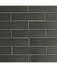 Ceramic Subway Tile Carbon Gray | Modwalls Designer Tile