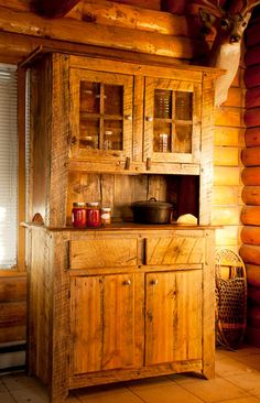 Custom rustic barn wood hutch or pie safe por TheRustyIronRanch, $2595.00
