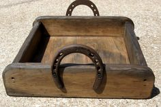 Small Serving Tray Rustic with Horseshoe