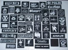 PUNK PATCHES x 6 by DIYORDIEPUNK on Etsy, £2.49