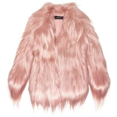 Gucci Goat hair coat (€3.385) ❤ liked on Polyvore featuring outerwear, coats, jackets, fur, pink, gucci, gucci coat, pink coats and goat hair coat