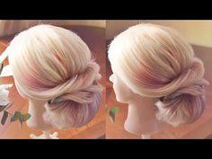 Причёска в греческом стиле - YouTube