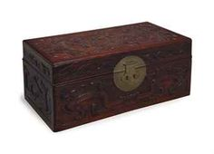 A CHINESE CARVED HUANGHUALI BOX AND COVER,(Christie's auction results for 2011)