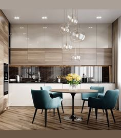38 Elegant and Luxurious Kitchen Design Ideas - Top Five Suggestions for Designing a Luxury Kitchen Kitchen Room Design, Kitchen Cabinet Colors, Modern Kitchen Design, Dining Room Design, Home Decor Kitchen, Interior Design Kitchen, Diy Kitchen, Kitchen Ideas, Kitchen Hacks