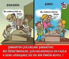 Şımartın çocukları Şımartın Bad Grades, Turkish Language, Child Development, Learn English, Self Improvement, Caricature, 2 In, Children, Kids