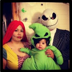 2014 Jack, Sally, Baby Oogie Boogie Nightmare Before Christmas Costumes - for Halloween Party