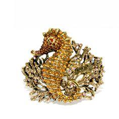 sparkly glittering beautiful seahorse bracelet @nomorerack.com $18