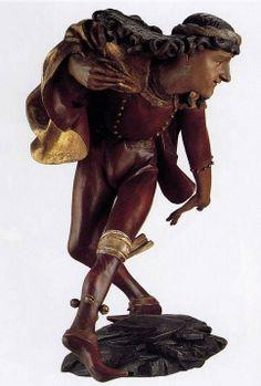 Erasmus Grasser, una de las estatuillas danzantes de la Sala de Fiestas del Ayuntamiento de Munich. -Escultura gótica del Imperio y centroeuropea S.XIV-XV.