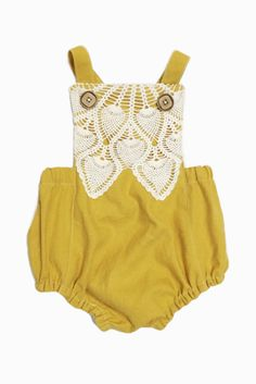 Handmade Linen, Cotton & Lace Romper | TateandAdele on Etsy