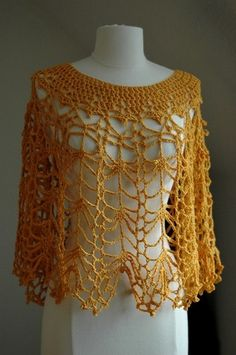 crochet poncho designed by doris chan called Cat's Cradle