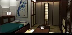 Japanese Bedroom | Japanese Bedroom by seclo-rum on deviantART