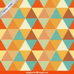 Pattern with triangles Free Vector