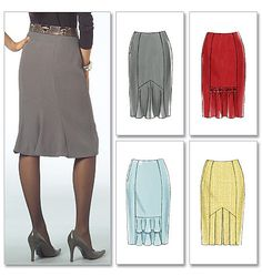 McCall's skirt pattern (4 views - pencil style with flounce in back)