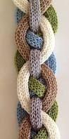Resultado de imagen para bufandas trensa tejidas en dos agujas