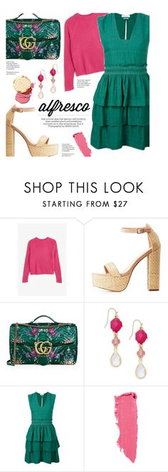 """alfresco"" by federica-m ❤ liked on Polyvore featuring Monki, Charlotte Russe, Gucci, INC International Concepts, Étoile Isabel Marant and Lipstick Queen"