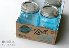"#papercraft #vintage #organization via My Sisters Suitcase OK, I know these are not really vintage, but Ball put these ""vintage style"" Mason Jars out and I love them!"