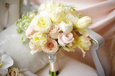 pink yellow wedding bouquet