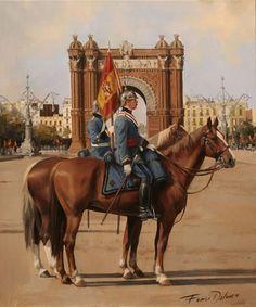 General en Barcelona, 1922. Lienzo, 46x55 Obra de Augusto Ferrer-Dalmau. En este proyecto Augusto pretende plasmar a un general de caballerí...