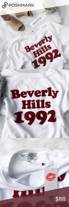"""Wildfox 'Bev Hills 1992' Sloan Sweatshirt Wildfox 'Beverly Hills 1992' 