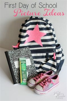 Great back to school first day photo ideas! Love finding new photography ideas and capturing all the back to school fun!