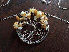 Spiritual Handmade Healing Orange Quartz by GemstoneWireLove