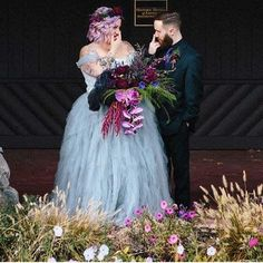 Loving everything about this couple from the colors, to the flowers, to the Plus Size Brides, 1 Year Anniversary, Curvy Bride, My Forever, Girl Tattoos, Photography Poses, Real Weddings, Marie, Flower Girl Dresses
