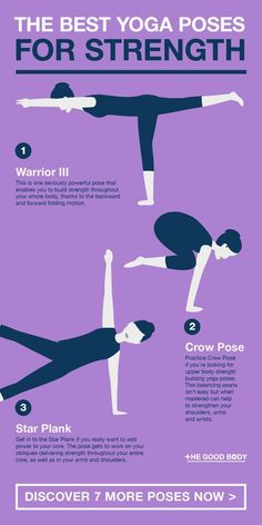 Yoga Poses for Strength: 10 Asanas for a Stronger, More Powerful You - If you. Yoga Poses for Strength: 10 Asanas for a Stronger, More Powerful You - If you're hitting the mat in the hopes of building a stronger body, then take a look below at 10 - Bodybuilding For Beginners, Cool Yoga Poses, Basic Yoga, Yoga At Home, Health Facts, Mental Health, Yoga Poses For Beginners, Strong Body, Yoga Tips