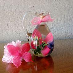 Pink Butterfly Bottle Bouquet Floral Embellishment, Baby Shower Decor, Bathroom Decor, Home Decor, Butterfly Decor, Table Decor, Centerpiece