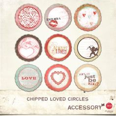 Valentines - Chipped Loved Circles