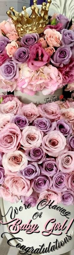 ❈Téa Tosh❈ Congratulations… A baby girl on the way… Wishing you all the best and with lots of love. Every Rose, Box Roses, Pretty Flowers, To My Daughter, Heavenly, Bouquets, Something To Do, Amanda, Queens