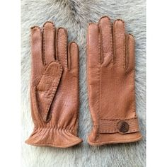 Herren Winter Leder Handschuhe Lederhandschuhe Braun Neu XXXL