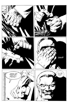 Sin City written and illustrated by Frank Miller Comic Book Pages, Comic Page, Comic Book Artists, Comic Artist, Comic Books Art, Frank Miller Sin City, Frank Miller Art, Sin City Comic, Georges Wolinski
