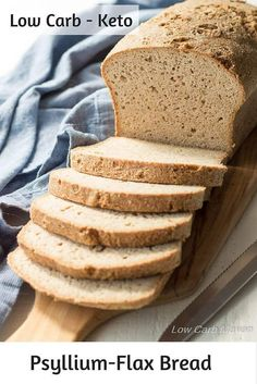 The Best Low Carb Keto Psyllium Bread is perfect with homemade sugar free jam.