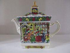 Sadler Tea Pot A Christmas Carol England -1993-EUC
