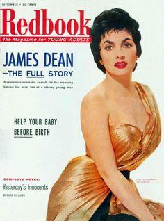 Gina Lollobrigida on the cover of Redbook magazine.