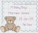 Baby Cross Stitch Patterns- free for boy and girl