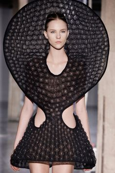 Innovative Fashion Design - 3D dress with bubble textured surface & exaggerated silhouette; sculptural fashion // Iris van Herpen