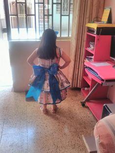 vestido de reciclaje